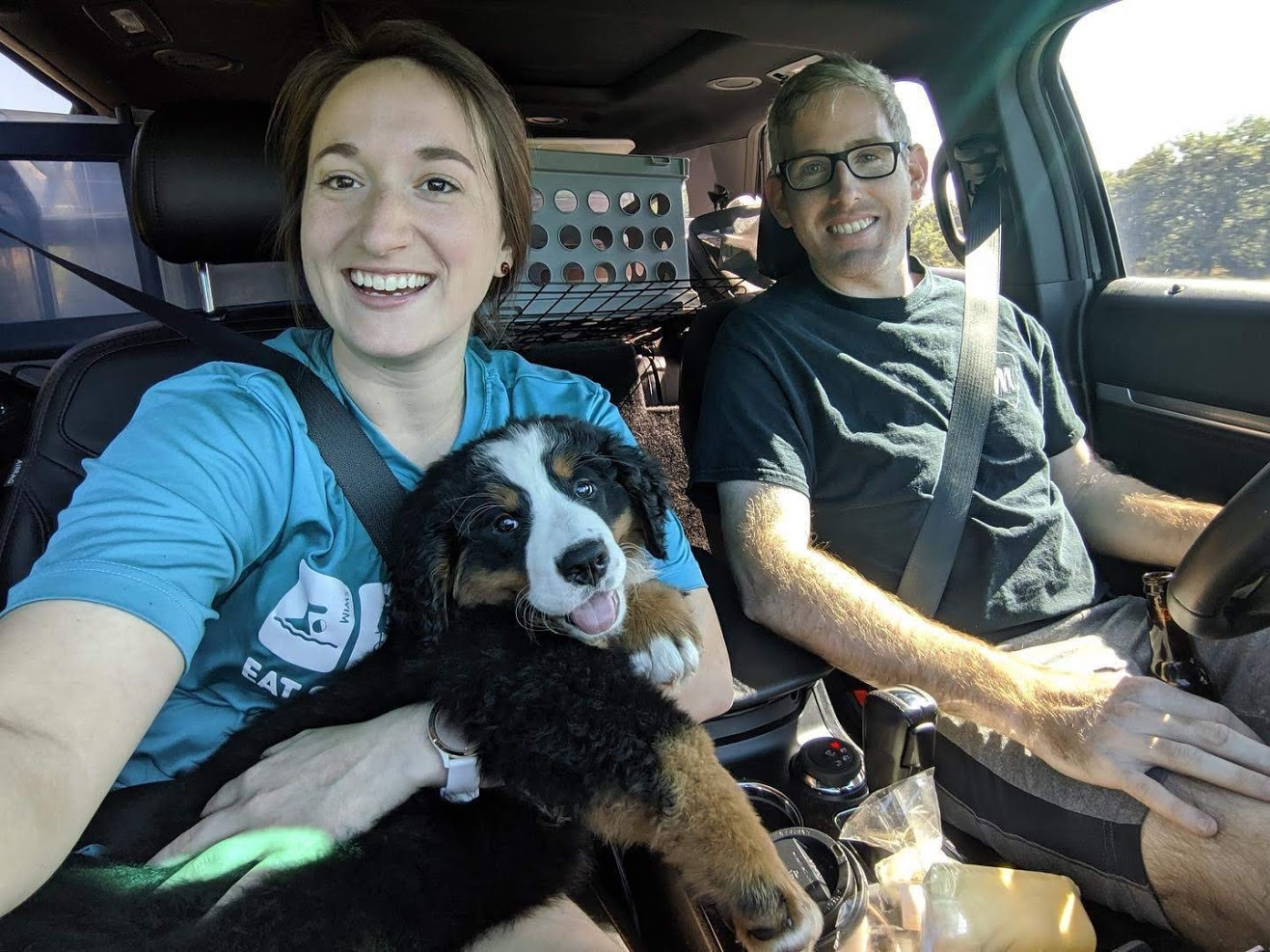 Bringing our Bernese Mountain Dog Puppy Home!